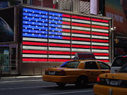50 Stars Posters - USA Flag in NY Poster by Jessica Cruz