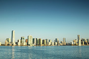 Miami Photo Prints - Usa, Florida, Miami City Skyline Print by George Doyle