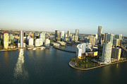 Downtown District Prints - Usa, Florida, Miami, Downtown, Aerial View Print by George Doyle