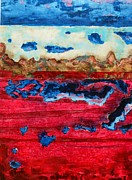 Red White And Blue Mixed Media Originals - USA in Decay by David Raderstorf