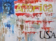Usa Flag Mixed Media - Usa by MaryAnn Ceballos