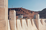 Y120907 Art - Usa, Nevada, Boulder City, Part Of Hoover Dam by Bryan Mullennix