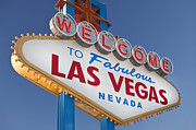 Y120907 Art - Usa, Nevada, Boulder City, Welcome Sign To Las Vegas by Bryan Mullennix