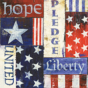 Words Paintings - USA Pride 1 by Debbie DeWitt