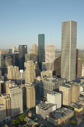 Aerial Framed Prints - Usa, Texas, Houston, Downtown, Aerial View Framed Print by George Doyle