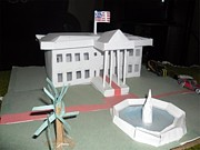 Usa Sculpture Originals - USA White House PaperCraft Model by Yushan Iceboy