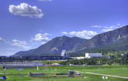 Colorado Springs Prints - USAF Academy Practice Fields Print by David Bearden