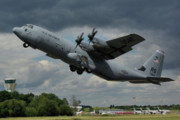 Usaf Lockheed-martin C-130j-30 Hercules  Print by Tim Beach