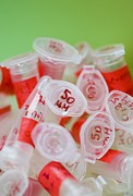 Stopper Photos - Used Eppendorf Tubes by Cristina Pedrazzini
