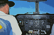Co-pilot Prints - Ushuaia - Rio Gallegos Print by Juergen Weiss