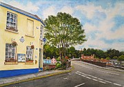 Police Painting Metal Prints - Usk police station  Metal Print by Andrew Read