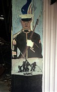 Toy Shop Posters - Usmc Mural  Poster by Doug  Duffey