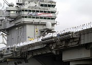 Ceremonies Framed Prints - Uss Abraham Lincoln Arrives At San Framed Print by Everett