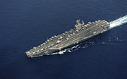 Carrier Posters - Uss Abraham Lincoln Transits The Indian Poster by Stocktrek Images