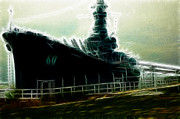 Hall Originals - USS Alabama  by Sabrina  Hall