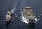 Two By Two Posters - Uss Cape St. George Pulls Alongside Poster by Stocktrek Images
