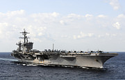 Supercarrier Prints - Uss Carl Vinson Underway In The Arabian Print by Stocktrek Images