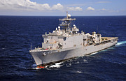 Transit Photos - Uss Comstock Transits The Indian Ocean by Stocktrek Images