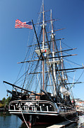 American Flag Framed Prints - USS Constitution Framed Print by Kristin Elmquist