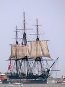 Old Ironsides Prints - USS Constitution Print by Lori Lafargue
