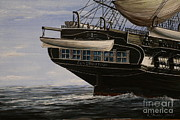 Maritime Art Paintings - USS Constitution by Rich Holden