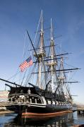 U.s. Flag Framed Prints - Uss Constitution Framed Print by Tim Laman