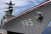 Shipmates Prints - Uss Cushing Is Decommissioned Print by Stocktrek Images