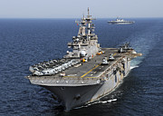 Self View Posters - Uss Essex Transits Off The Coast Poster by Stocktrek Images