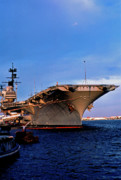 Weaponry Prints - USS Forrestal CV-59 Print by Thomas R Fletcher