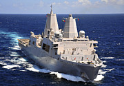 Green Bay Metal Prints - Uss Green Bay Transits The Indian Ocean Metal Print by Stocktrek Images