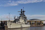 Skyway Prints - USS Little Rock 2 Print by Peter Chilelli