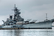 Bateau Framed Prints - USS New Jersey Framed Print by Jennifer Lyon