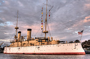 Warships Photos - USS Olympia by JC Findley