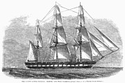War Relief Framed Prints - Uss Sabine, 1861 Framed Print by Granger