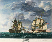 War 1812 Prints - Uss United States: Battle Print by Granger