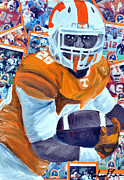 Running Back Mixed Media - UT Runningback #20 by Michael Lee
