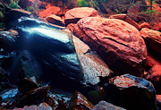 Utah National Parks Prints - Utah - Emerald Pool Boulders Print by Terry Elniski