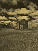 Utah Barn In Orotone Print by Joshua House