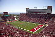 College Sports Prints - Utah Rice-Eccles Stadium Print by Richard Greene
