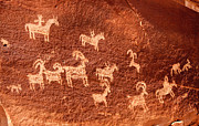 Arches National Park Originals - Ute Petroglyphs by Adam Pender
