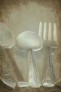 Photo Manipulation Photo Posters - Utensils Poster by Sophie Vigneault