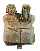 Babylonian Photos - Utnapishtim And His Wife by Photo Researchers