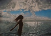 Nude Woman In Water Originals - Utopia by Saba Aghajan