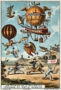 Suburban Paintings - Utopian flying machines of the 19th century by Pg Reproductions
