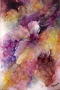 Blue Grapes Mixed Media Prints - Uva al Sole Print by Kathleen Pio