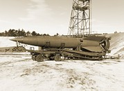 World Series Prints - V-2 Rocket Print by Detlev Van Ravenswaay