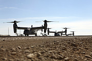 Airfield Prints - V-22 Osprey Tiltrotor Aircraft Arrive Print by Stocktrek Images