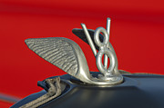 Collector Hood Ornaments Posters - V-8 Hood Ornament Poster by Jill Reger