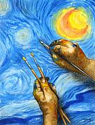 Starry Night Art - V is for Van Gogh... by Will Bullas