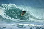 Wave Art Photos - V Land Tube Action by Brad Scott